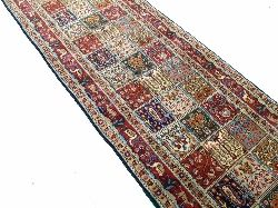 Perser Teppich MOUD 399x79 Läufer Orientteppich