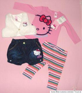 Neu*Hello Kitty C&A 4tlg.Set74*LA Shirt,Weste,Shorts,Leggings*Neu