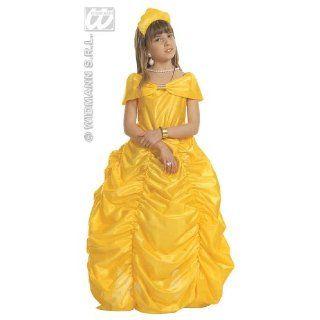 Beauty Queen Kleid 128 gelb Kostüm für Kinder Spielzeug