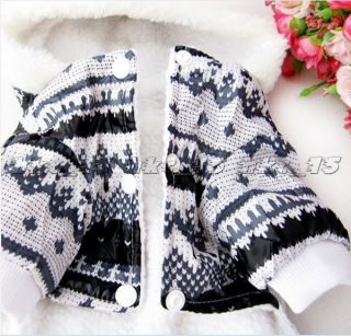 Winter Warm Thick Dog Puppy Pet Clothes Outercoat Jumpsuit Neu Hot Top