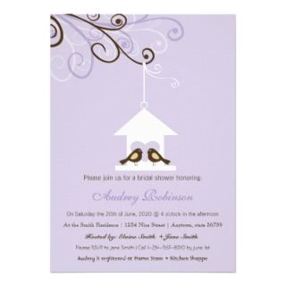 Bird House Bridal Shower Announcements