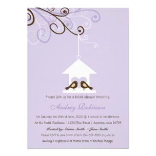 Bird House Bridal Shower Announcements