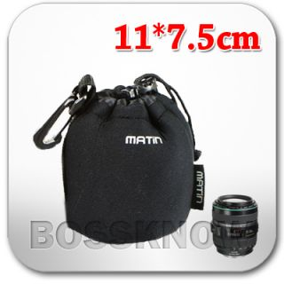 Matin Neoprene Soft Small Size Camera Lens Pouch Case Bag Fr Canon