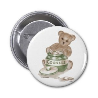 Teddy Bear Cookie Jar Pinback Button