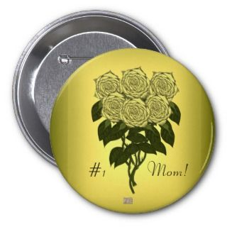 Yellow Rose Bouquet (Mothers Day) Pins