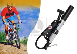 Portable Mini Mountain skidproof Bike Bicycle Tire Inflator Barometer