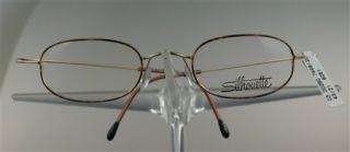 SILHOUETTE M7448 Brille Brillengestell Braun/Gold Titan NEU