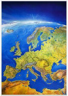 ALPEN Panorama Karte~214 x 60 cm~extra lang~2 teilig