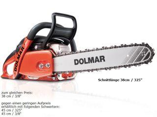 Benzin Kettensäge Dolmar PS 5105 C + Fleece Jacke, Schnittlänge 38