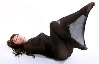 Black Cocoon bodyhose Tight Stocking Pantyhose lingerie