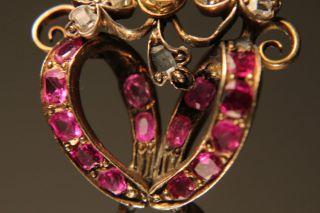Rubine Geschenk Antik Anhänger 585er Gold Biedermeier Pendant Perlen