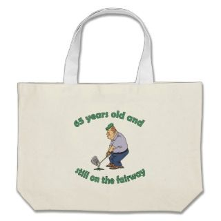 65th Birthday Golfer Gag Gift Bag