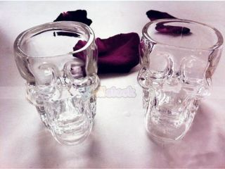 New Crystal Skull Head Vodka Whiskey Shot Glass Cup Drinking Ware Home