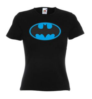 BATMAN T Shirt Lady Fit in Neon Blau Größe.XS,S,M,L,XL für Damen