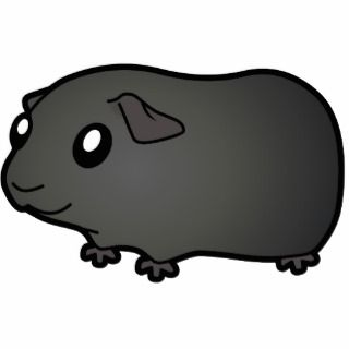 Cartoon Guinea Pig (black) Photo Cutouts