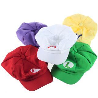 So cool colorful Luigi Super Mario Bros Anime Cosplay Adult Hat Cap