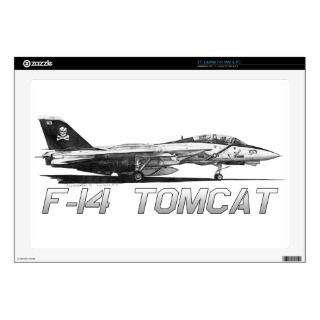 F14 Tomcat VF 103 Jolly Rogers   drawing Decals For 17 Laptops