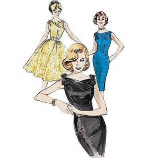 VINTAGE RETRO BUTTERICK 60S SIXTIES WIGGLE / FLARED DRESS PATTERN NEW