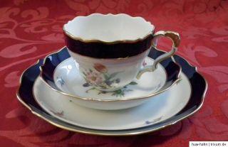 Lindner BARONESSE PRUNK Kaffeeservice echt Kobalt 8 Personen 28 Teile