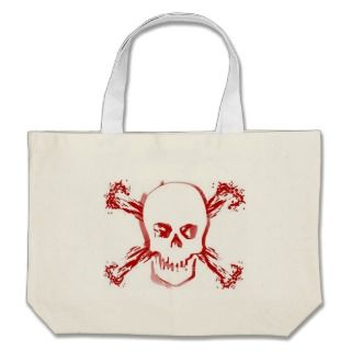Blood Smeared Skull & Bloody Cross Bones Bag