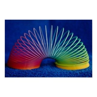 Rainbow colored slinky toy. A Great Texture filled with Rainbow