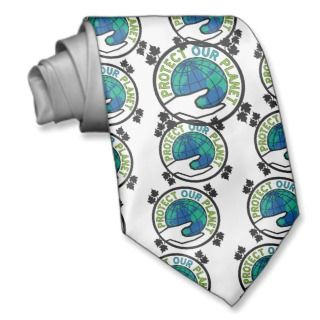 Protect Our Planet Neckties