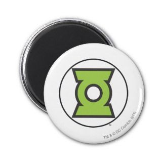 Green Lantern Logo 11 Fridge Magnets