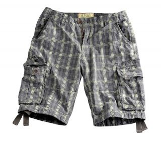 Alpha Industries Jet 2 Short Bermuda Shorts checkered karo kurze Hose