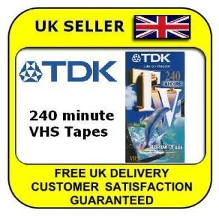 TDK E240 240 4 Hour Blank VHS Video Cassette Tapes