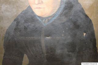 Biedermeier Ölgemälde Gemälde Porträt Oil Painting 47 x 36 um 1860