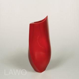 LAWO Lack Design Vase HANA bordeaux rot Modern Deko Blumenvase