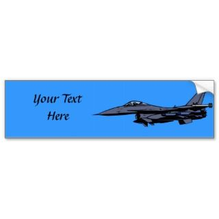 Fighter Jet Flying Bumper Sticker