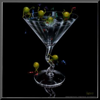 Olives Gone Wild Mounted Print by Michael Godard