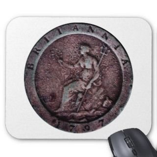 1797 British cartwheel penny mousepad