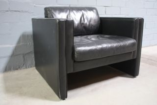 Original Walter Knoll Studio Line Leder Sofa Lounge Empfang Sessel zu