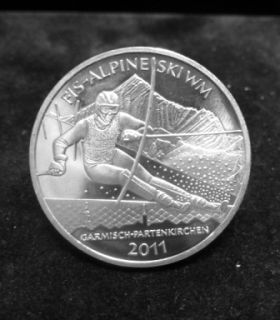 10 Euro Münze FIS Alpine Ski WM Garmisch Part. 2011 2010 1QN233