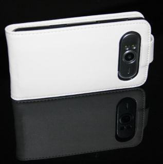 Tasche Hülle Etui Cover Pu Leather Flip Case Bag Weiß #249