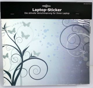 Laptop Netbook Notebook Sticker Aufkleber Motiv Ornament hell (D230