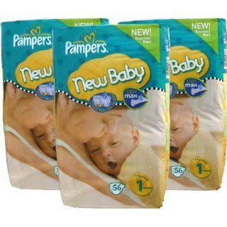 168 Pampers Windeln, New Baby, New Born, Gr.1, 2 5 kg, mit Urin
