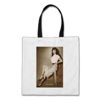 Bettie Page Vintage Pinup in Cute Pink Sweater Bag
