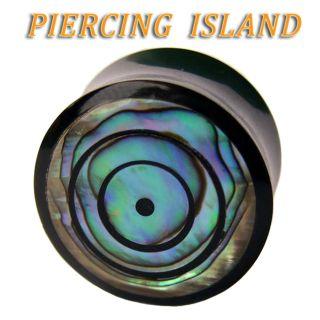 PERLMUTT Abalone Shell Flesh Tunnel Ear Plug Ohr Piercing 249