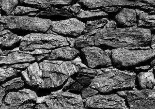 Steine Steintapete Steinwand grau Stein Foto 360 cm x 254 cm