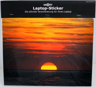 Laptop Netbook Notebook Sticker Aufkleber Motiv Sonnenuntergang (D239