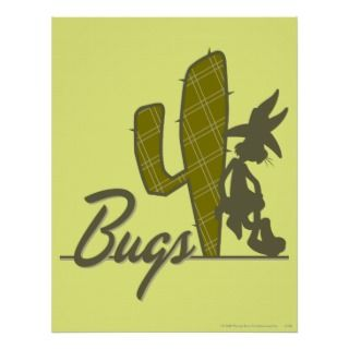 Bugs Bunny Cowboy Leaning on Cacus Poser