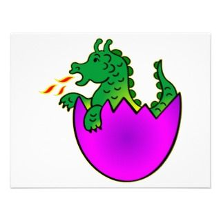 Cute Baby Dragon In Egg Announcement