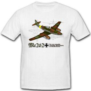Me 262 Düsenjäger Schwalbe LW Jet Luftwaffe WK2 T Shirt *4066