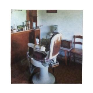 Old Fashioned Barber Chair Cloth Napkins