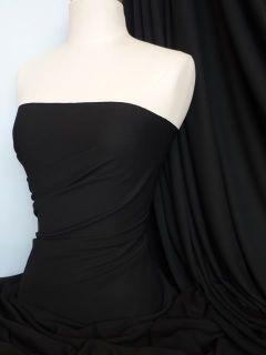 Black Stretch Crepe Fabric / Material