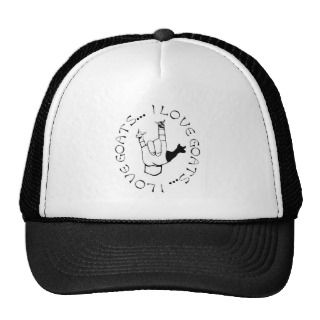 Love Goats ASL Sign Language Hand Symbol Hat