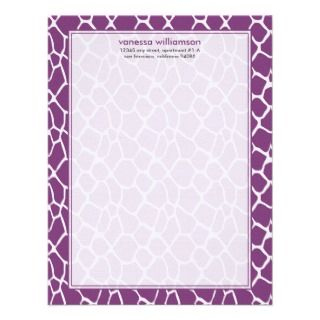 Custom Flat Note Cards (purple) Custom Announcement